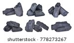 set of natural wood charcoal... | Shutterstock . vector #778273267