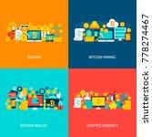 bitcoin concepts. poster design ... | Shutterstock .eps vector #778274467