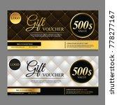 voucher template gift voucher... | Shutterstock .eps vector #778277167