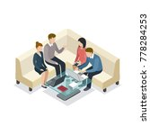 business meeting with clients... | Shutterstock .eps vector #778284253