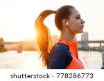 portrait of young female runner ...   Shutterstock . vector #778286773