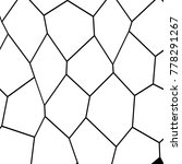 black and white irregular grid  ... | Shutterstock .eps vector #778291267