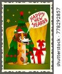 vector happy new year card.... | Shutterstock .eps vector #778292857
