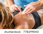 ultrasound therapy. therapist... | Shutterstock . vector #778299043