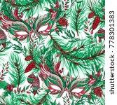 winter festive handpainted... | Shutterstock . vector #778301383