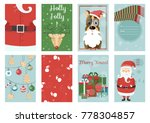 holiday themed patterns. merry... | Shutterstock .eps vector #778304857