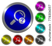 unknown search icons on round... | Shutterstock .eps vector #778306057