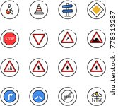 line vector icon set   disabled ... | Shutterstock .eps vector #778313287