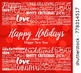 happy holidays and happy new... | Shutterstock . vector #778314517