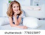 happy girl teenager with dental ... | Shutterstock . vector #778315897