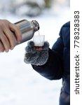 child toddler in winter snow... | Shutterstock . vector #778328383