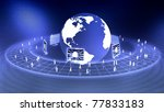 Worldwide Virtual Business concept - stock photo