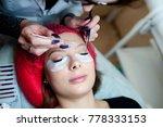 eyelash extensions in the... | Shutterstock . vector #778333153