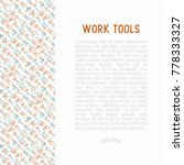 work tools concept with thin... | Shutterstock .eps vector #778333327