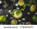 homemade lemonade or mojito... | Shutterstock . vector #778343557