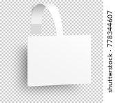 white rectangular self adhesive ... | Shutterstock .eps vector #778344607