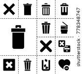delete icons. set of 13... | Shutterstock .eps vector #778348747