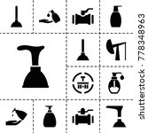 pump icons. set of 13 editable... | Shutterstock .eps vector #778348963