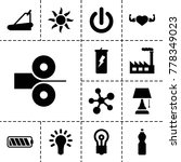energy icons. set of 13... | Shutterstock .eps vector #778349023