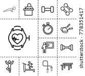 training icons. set of 13... | Shutterstock .eps vector #778351417