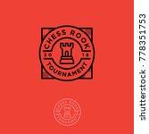 chess rook  tournament logo.... | Shutterstock .eps vector #778351753