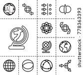 orbit icons. set of 13 editable ... | Shutterstock .eps vector #778363393