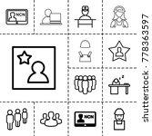 employee icons. set of 13... | Shutterstock .eps vector #778363597