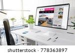 computer with trends blog...   Shutterstock . vector #778363897