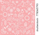 girl power quote. icon set... | Shutterstock .eps vector #778365793