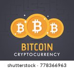 crypto currency bitcoin.... | Shutterstock .eps vector #778366963