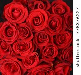 Stock photo lots of the red roses background closeup 778376227