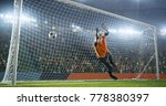 soccer goalkeeper fails to... | Shutterstock . vector #778380397