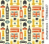london pattern. vector colorful ... | Shutterstock .eps vector #778386637