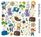 pirate adventures pirate party...   Shutterstock .eps vector #778387243