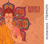 buddha in meditation on... | Shutterstock .eps vector #778394293