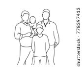 gay family with two children... | Shutterstock .eps vector #778397413