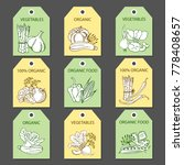 labels with various vegetables... | Shutterstock . vector #778408657