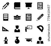 origami style icon set   pencil ... | Shutterstock .eps vector #778410457