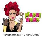 dare pop art woman girl wow... | Shutterstock .eps vector #778430983