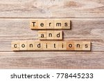 terms and conditions word...   Shutterstock . vector #778445233