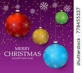 christmas light vector... | Shutterstock .eps vector #778455337