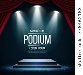 podium with curtain on bright... | Shutterstock .eps vector #778462183