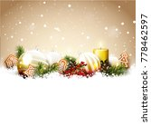 christmas background with glass ... | Shutterstock .eps vector #778462597
