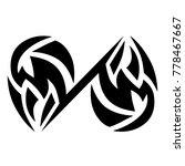 tattoo tribal vector design.... | Shutterstock .eps vector #778467667