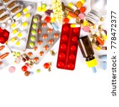 colorful tablets with capsules... | Shutterstock . vector #778472377