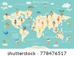 animals  map of the world.... | Shutterstock . vector #778476517