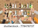 hands group holding glasses... | Shutterstock .eps vector #778478737