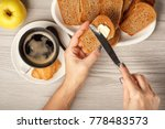 top view of female hands... | Shutterstock . vector #778483573