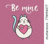 cute vector card. cartoon... | Shutterstock .eps vector #778496077