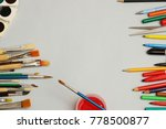 artwork workplace with creative ...   Shutterstock . vector #778500877